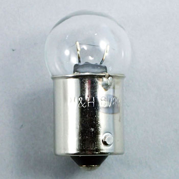 2 Wheeled Vehicle Bayonet Cap Bulb G18 6V, Single Bulb