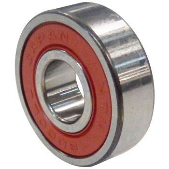 Deep Groove Ball Bearing 6000 Llu Series, Contact Rubber Seal Both Sides