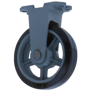 Heavy Duty Rubber Wheel Rigid Caster, HB-K
