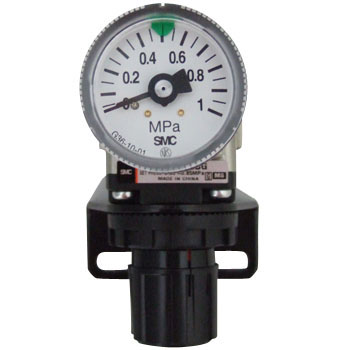Regulator, Round Pressure Gauge, Bracket