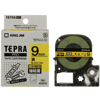 Tepra Pro Tape Strong Adhesion Label, In Blue And Black Letters