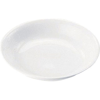 High strength porcelain white plate