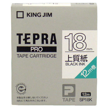 Tepra Pro Tape High-Quality Paper Label, Black Letter