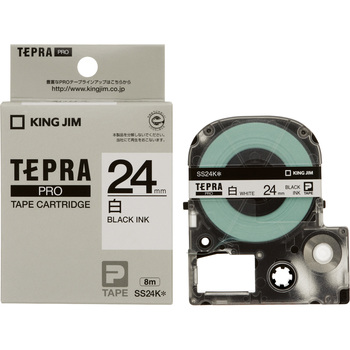 Label Cartridge, TEPRA PRO Tape White Label Black Character