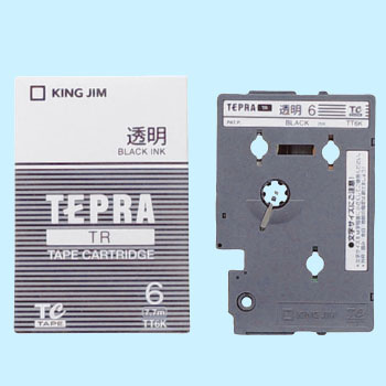 Tepra TR Tape Transparent Label
