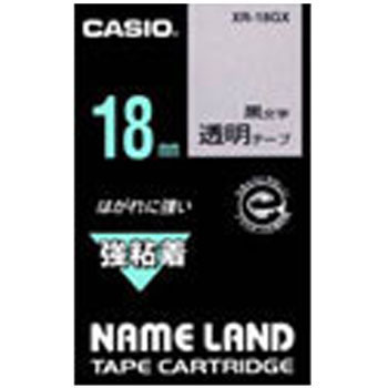 "Label Tape, ""Name Land"", Transparent Tape Black Character"