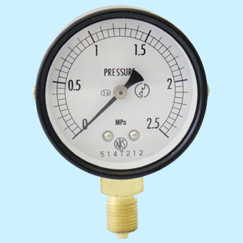 Normal type pressure gauge (A frame / Vertical) 60phi