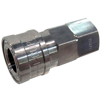 High Stainless Steel Coupler Socket, For Mounting Male Thread