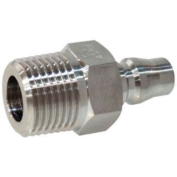 Hi Coupler Plug, for Female Screw Install, Stainless Steel