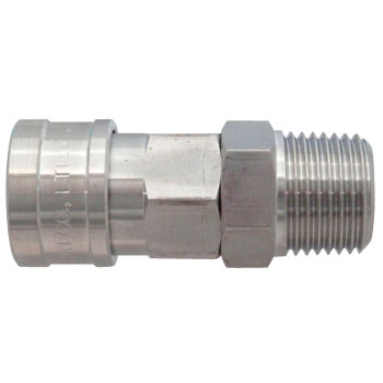 Hi Cupla Stainless Steel Socket, Male Thread