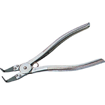 Pliers, bent nose type, with spring, internal use