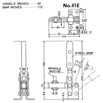 B-II Toggle Clamps Downward Pressure