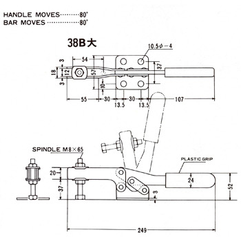 Handle Horizontal downward pressure type clamp