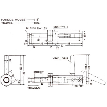 Horizontal Handle Toggle Clamps