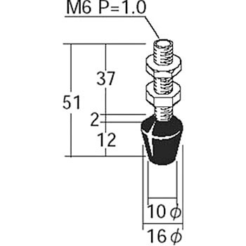 For Toggle Clamps Bolt With Rubber