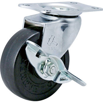 415E Swivel Caster Stopper, Rubber Solid Wheel,