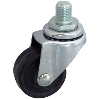 Screw Type 420 A Swivel Caster, Rubber One Wheel
