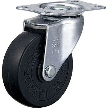 420E Swivel Caster, Rubber Solid Wheel