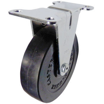 420ER Rigid Caster, Rubber Wheel