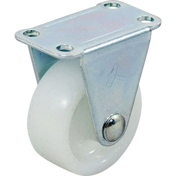 420R Rigid Caster, Nylon Solid Wheel,