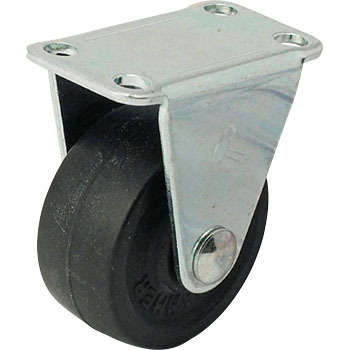 420R Rigid Caster, Rubber Wheel,