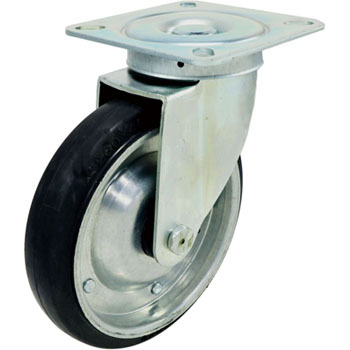 400S Swivel Caster, Rubber Wheel, With B