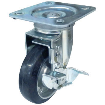 419S Swivel Caster Stopper, Griddle Wheel, Rubber Wheel, B,