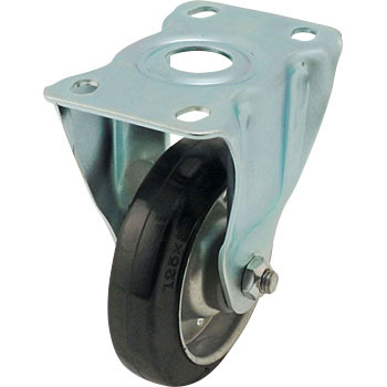 420SR Rigid Caster, Griddle Wheel Rubber Rolling Wheel,