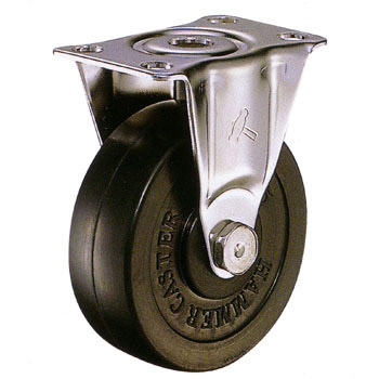 Stainless Steel 320SR, Rigid Caster, Rubber Solid Wheel,