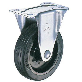 Stainless Steel 320SR, Rigid Caster, Rubber Nylon Wheel
