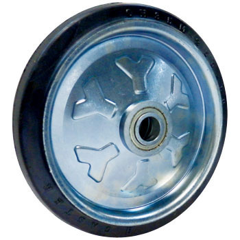 Wheels, With Pressed Bearings, Rubber Wheels