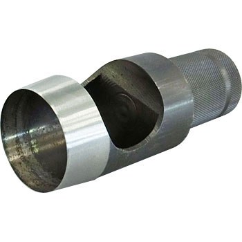 Shaft with knurled type belt punch