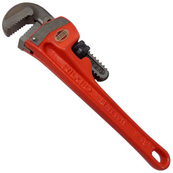 Strong type straight pipe wrench