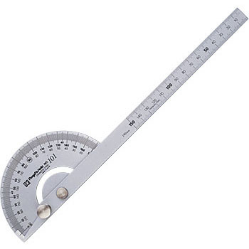 Protractor, Silver Finish