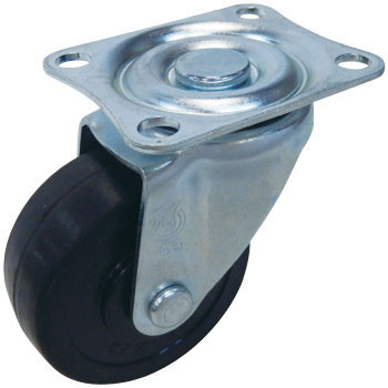 Plate-Type Sg Model-Swivel Caster, Rubber Car , Double Bearing