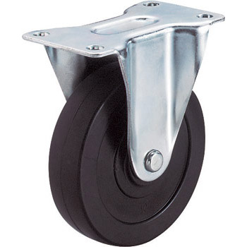 SR Type Rigid Caster, Rubber Wheel