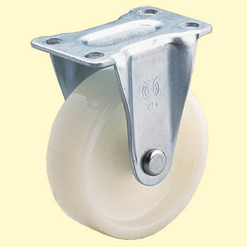 SR Type Rigid Caster, Nylon Wheel