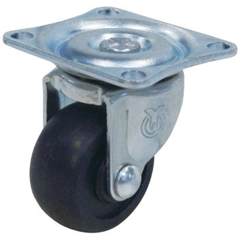 G Type Swivel Caster, Rubber Wheel And Single Bearing, Plate Type