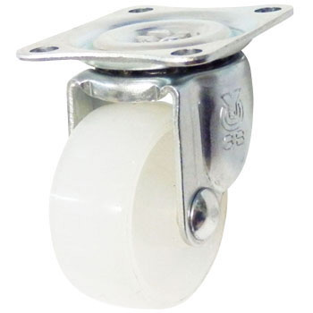 G Type Swivel Caster, Nylon Wheel, Single Bearing