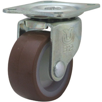 G Type Swivel Caster, Urethane Wheel And Single Bearing