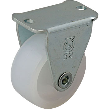 GR Type Rigid Caster, Nylon Wheel