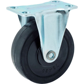 GR Type-Rigid Caster, Rubber Wheels
