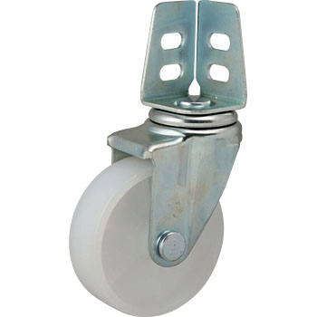 SA Type Swivel Caster, Double Bearing, Angle TypeNylon Wheel
