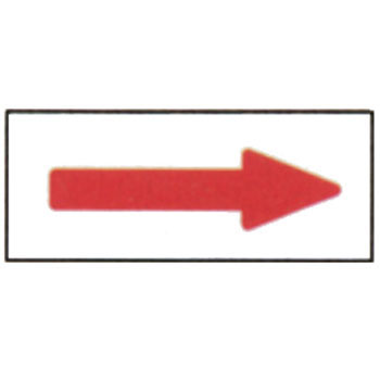 Piping Direction Identification Sticker