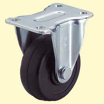Lr Type Rigid Caster, Rubber Wheel
