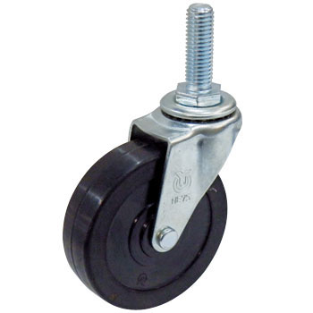 Screwed-Type Lt Swivel Caster, Rubber Wheel