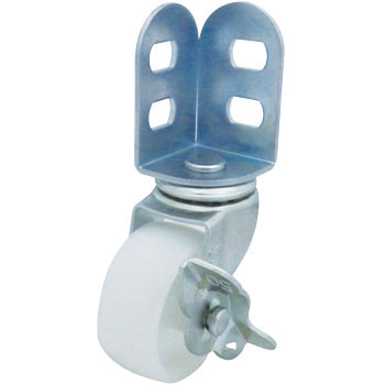 SA Type Swivel Caster, Double Bearing, Angle Type, With Stopper, Nylon Wheel
