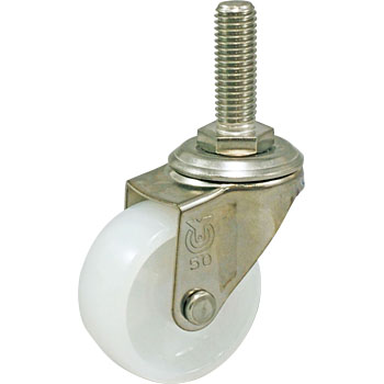 Screwed-Type Sus-Et Type Swivel Caster, Double Bearing, Nylon Wheel