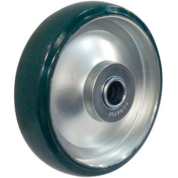 Wheel, Steel Plate Wheel Urethane, W/Bearing