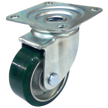 J Type Swivel Caster, Urethane Wheels , Double Bearing